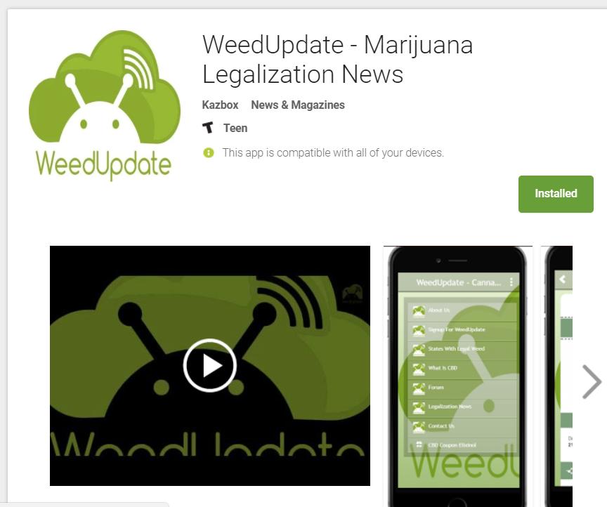 WeedUdpate Android App, WeedUpdate, app